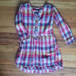 Tea Flannel Tunic Dress